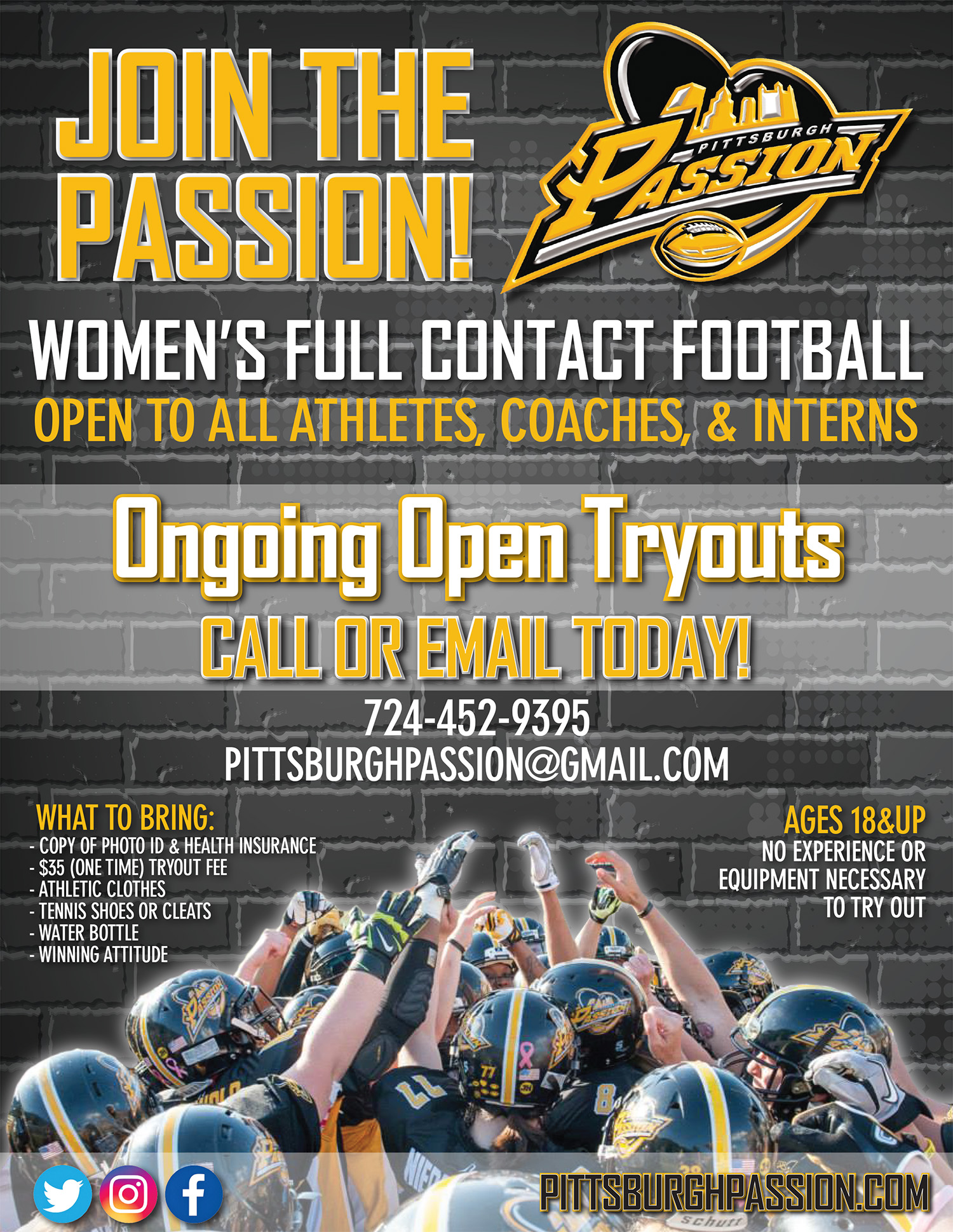 2018 Passion Open Tryouts flyer_final